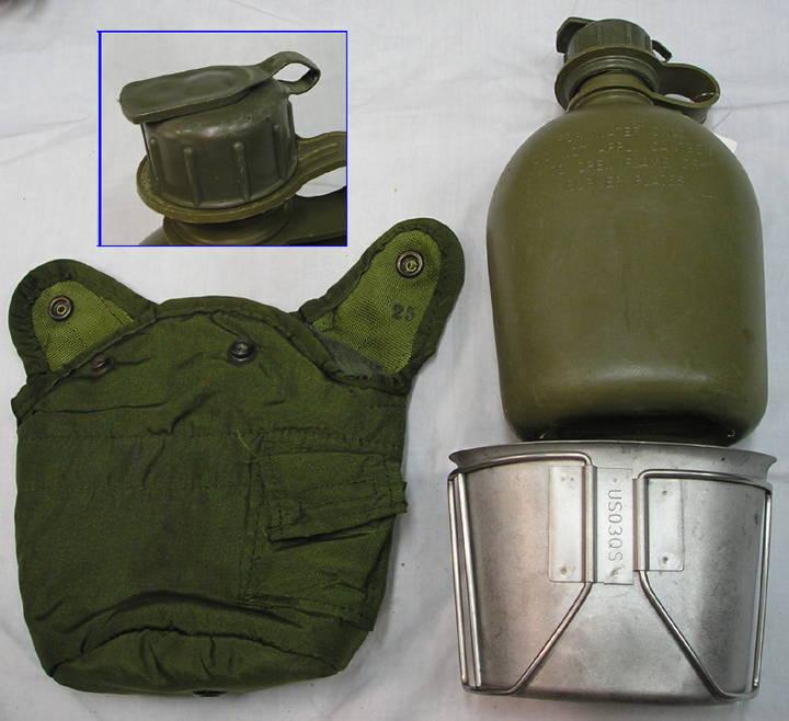画像1: 1QT水筒セット ODキャップ 1QT水筒セット ODキャップ - いは軍払い下げ品店