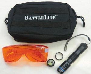 画像1: 米軍放出ライトセット BattleLite ゴーグル ポーチ