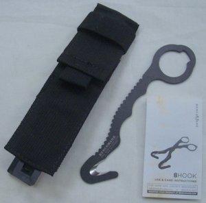 画像1: レスキューフック カッター ベンチメイド 黒 ポーチ付A