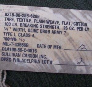 画像2: バイアステープ 幅19ミリ コットン 80年代 OD