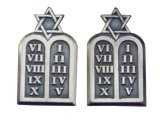 ARMY従軍牧師 JEWISH 左右セット ピンズ
